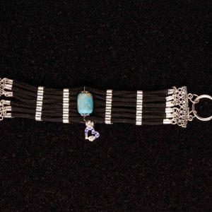 #134 Faux Suede Multi-strand Cuff Bracelet