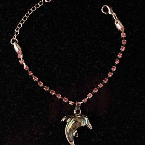 #139 Cup Chain Bracelet With Dolphin Pendant