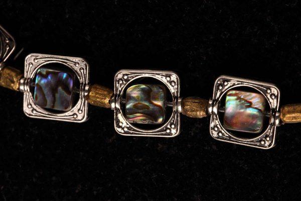 #152 Abalone/Maua Shell And Copper Bracelet