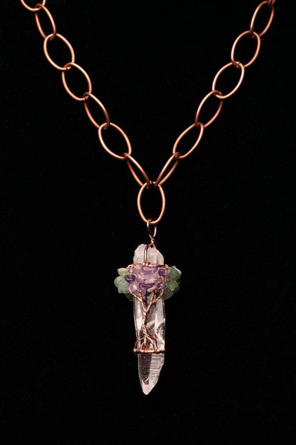 #182 Gold Plated Quartz Crystal Bracelet