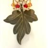 Bronze Leaf Earrings With Swarovski Crystals