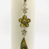 Rhinestone And Abalone Shell  Drop Earrings