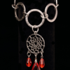 Steel Ring Bracelet With Dream Catcher
