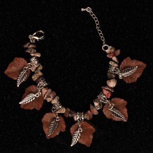 #170 Tribal Lucite and Leopard Skin Jasper Bracelet