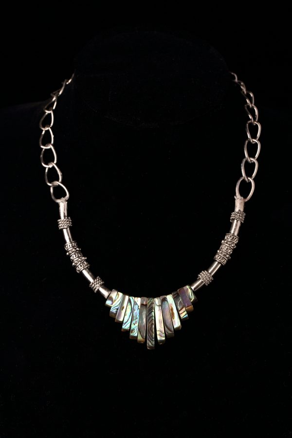 #203 Ethnic Abalone Shell Necklace