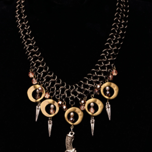 Chain Maille and Dagger Pendant Necklace