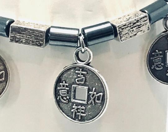 Haematite And Feng Shui Amulet Beaded Bracelet