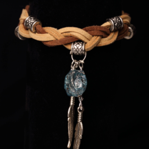 Braided, Faux Suede, Native American Style Bracelet.