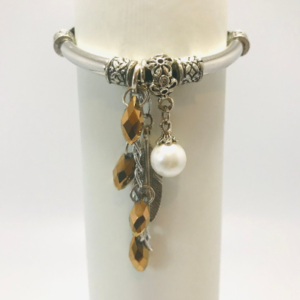 Ethnic Bracelet With Feather And Beads
