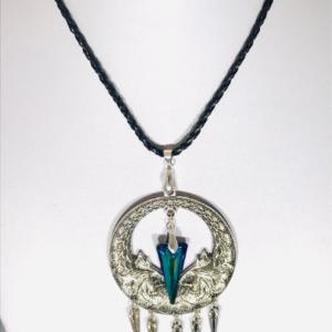 #84 Dream Catcher Necklace With Swarovski Crystal