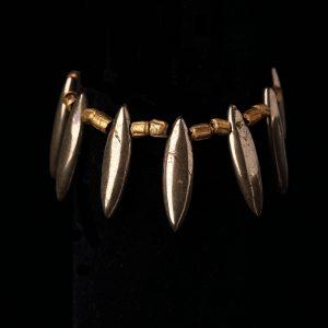 #187 Copper and Haematite Pendant Bracelet