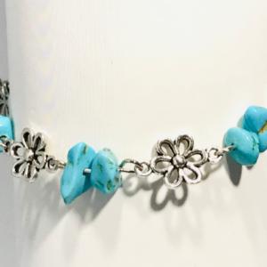 Daisy Chain Turquoise Bracelet