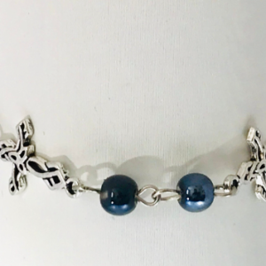 Rosary Chain And Cross Bracelet