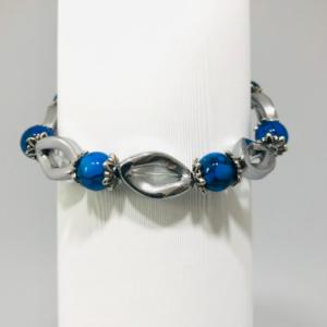 Haematite and Cat's Eye Beaded Bracelet.