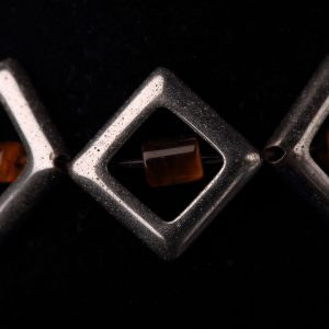 #263 Art Deco Bracelet in Haematite and Tiger's Eye