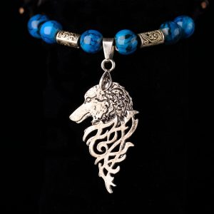 #251 Slide Knot Bracelet With Wolf Head