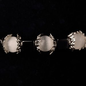 #262 White Cat's Eye and Haematite Bracelet