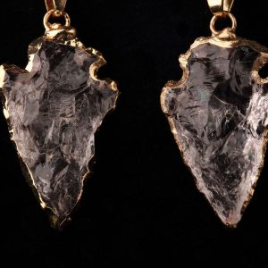 #246 Clear Quartz Crystal Arrowhead Earrings
