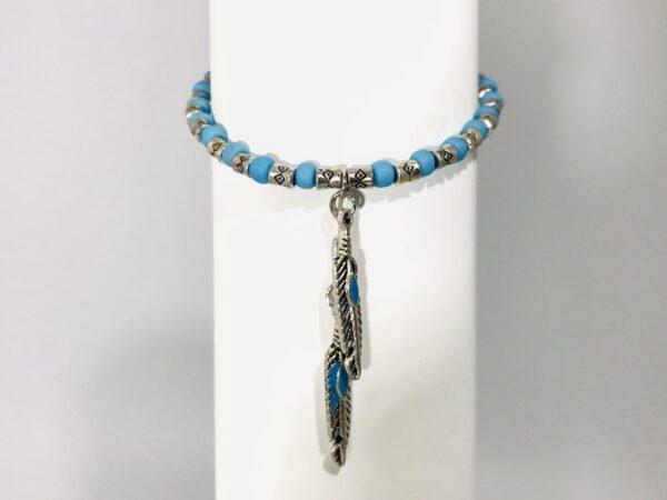 Ethnic Bracelet And Feather Pendants
