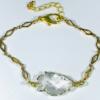 Clear Crystal Quartz Arrowhead Bracelet