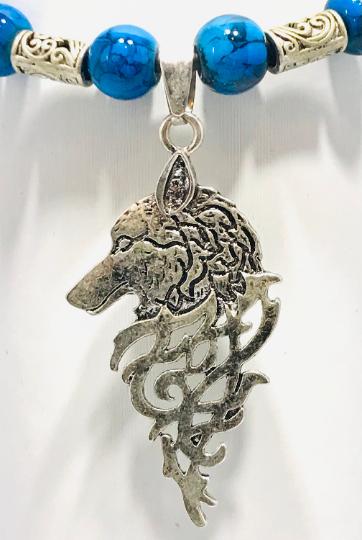 Slide Knot Bracelet With Wolf Head