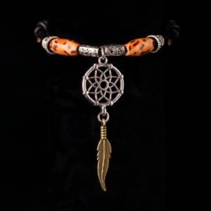 Wood Bead Dream Catcher Slide Knot Bracelet