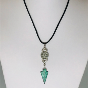 #259 Verdigris Patina Mycenaean Style Arrowhead Necklace