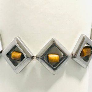 Art Deco Bracelet in Haematite and Tiger's Eye