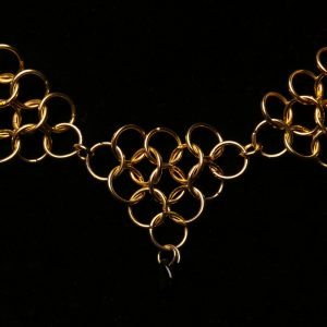 #372 Gold Plated Chain Maille Necklace