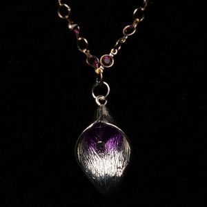 #283 Amethyst Chain and Tulip Necklace