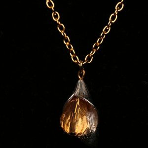 #356 Gold Plated Chain With Tulip Pendant