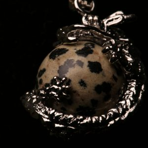 #364 Dragon Bracelet With Dalmatian Jasper