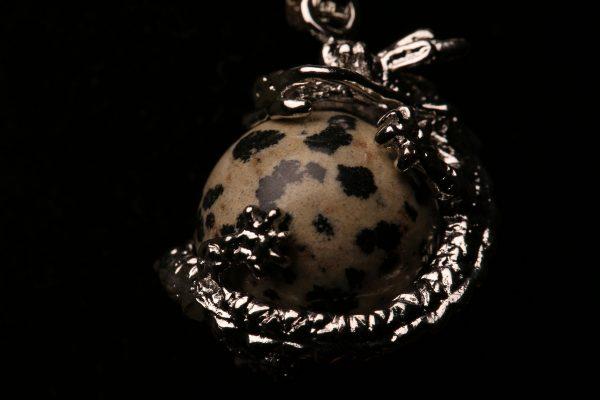 #364 Dragon Bracelet With Dalmatian Jasper