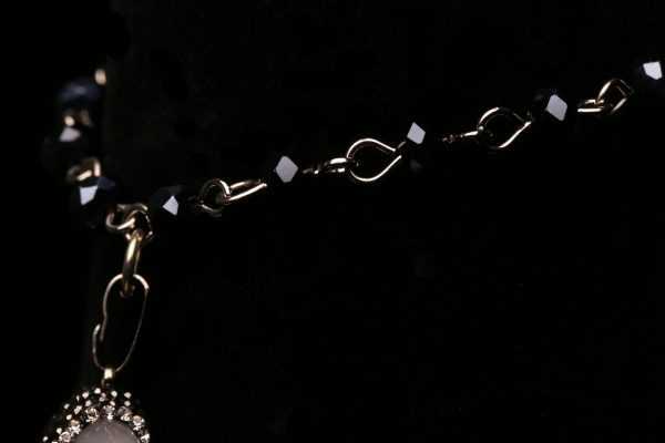 #365a  Opal Crescent Moon Bracelet