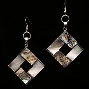 #366 Abalone Shell Rhombus Earrings