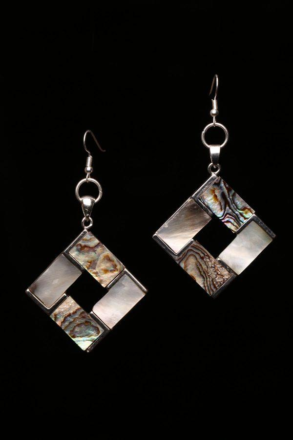 #366 Abalone Shell Rhombus Earrings