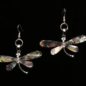 #269 Abalone Shell Dragonfly Earrings