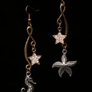 #312 Star And Sea Themed Dangle Earrings