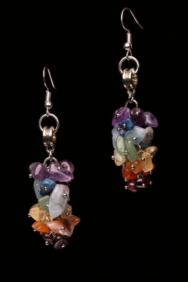 #290 The Chakra Crystal Dangle Earrings