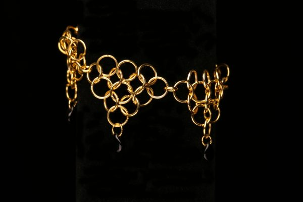 #371 The Gold Plated Chain Maille Bracelet