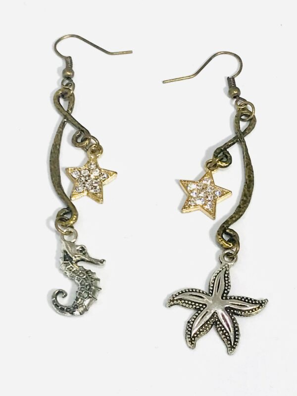 Star And Sea Dangle Earrings