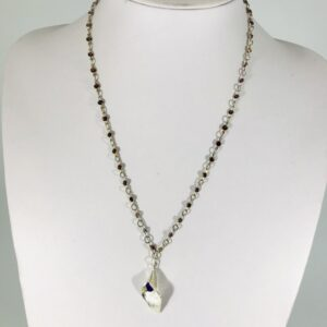 Amethyst Chain and Tulip Necklace