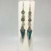 Bermuda Blue Crystal Spike Dangle Earrings