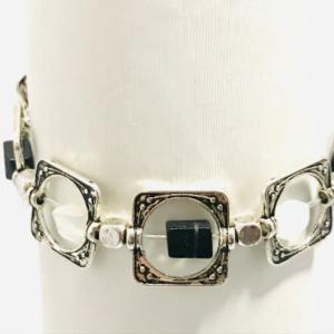 The Black And White Agate Art Deco Bracelet