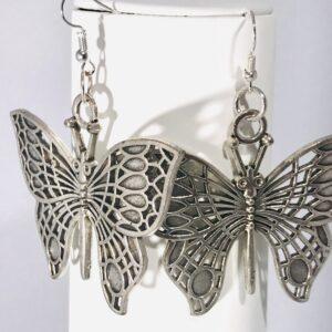 Large Butterfly Drop Earrings