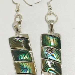 Abalone Shell Rectangular Block Earrings