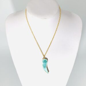 Green Agate Angel Wing Necklace