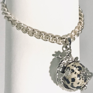 Dragon Bracelet With Dalmatian Jasper