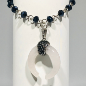 Opal Crescent Moon Bracelet