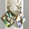 Abalone Shell Rhombus Earrings